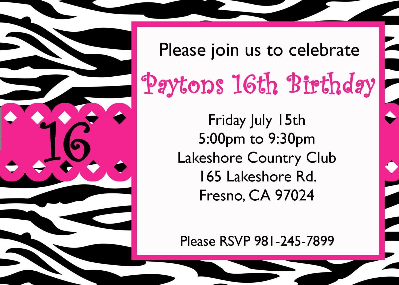 16 Birthday Invitations For Girls