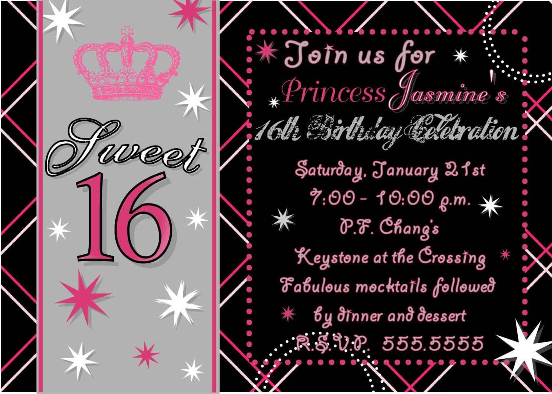 16 Birthday Invitations Templates