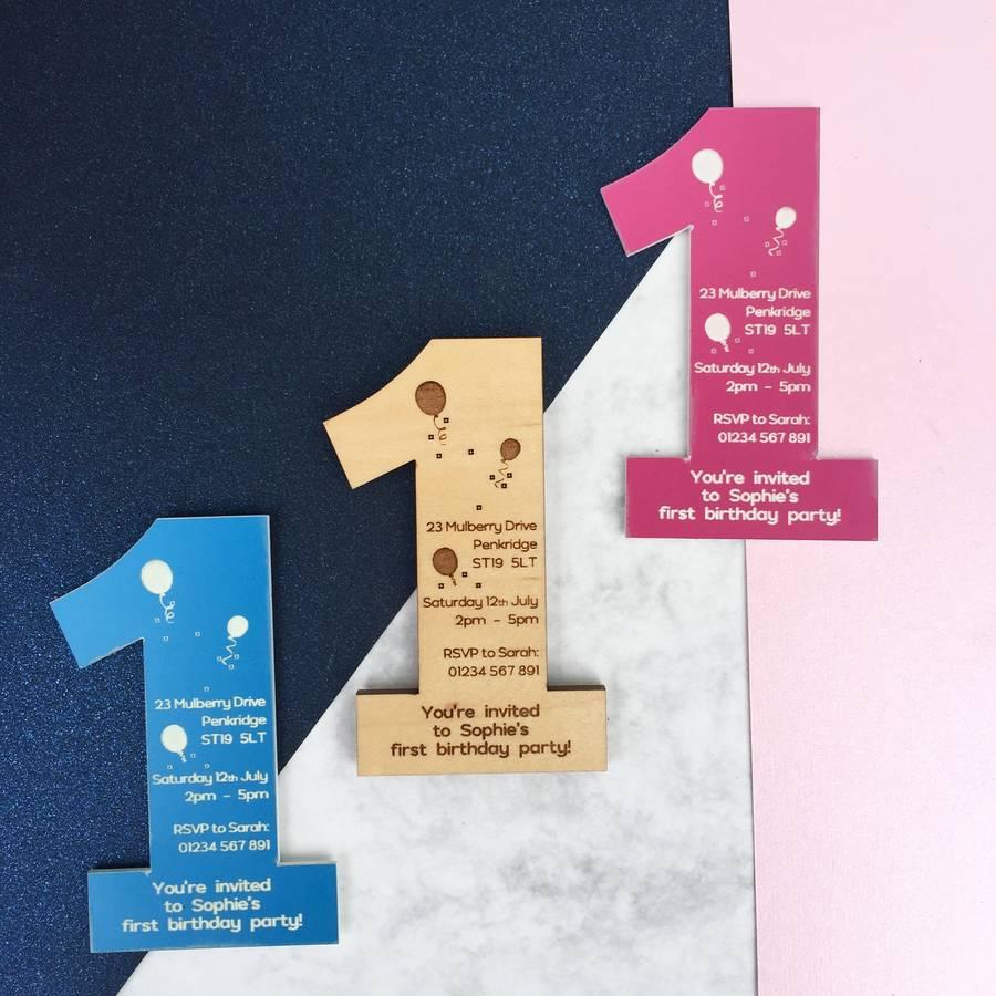 1st Birthday Party Invitation Magnet By Batemandesigns