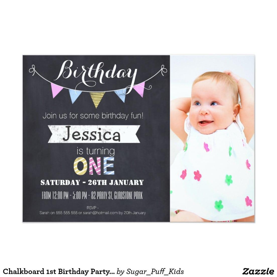1st Birthday Party Invitation Templates Free