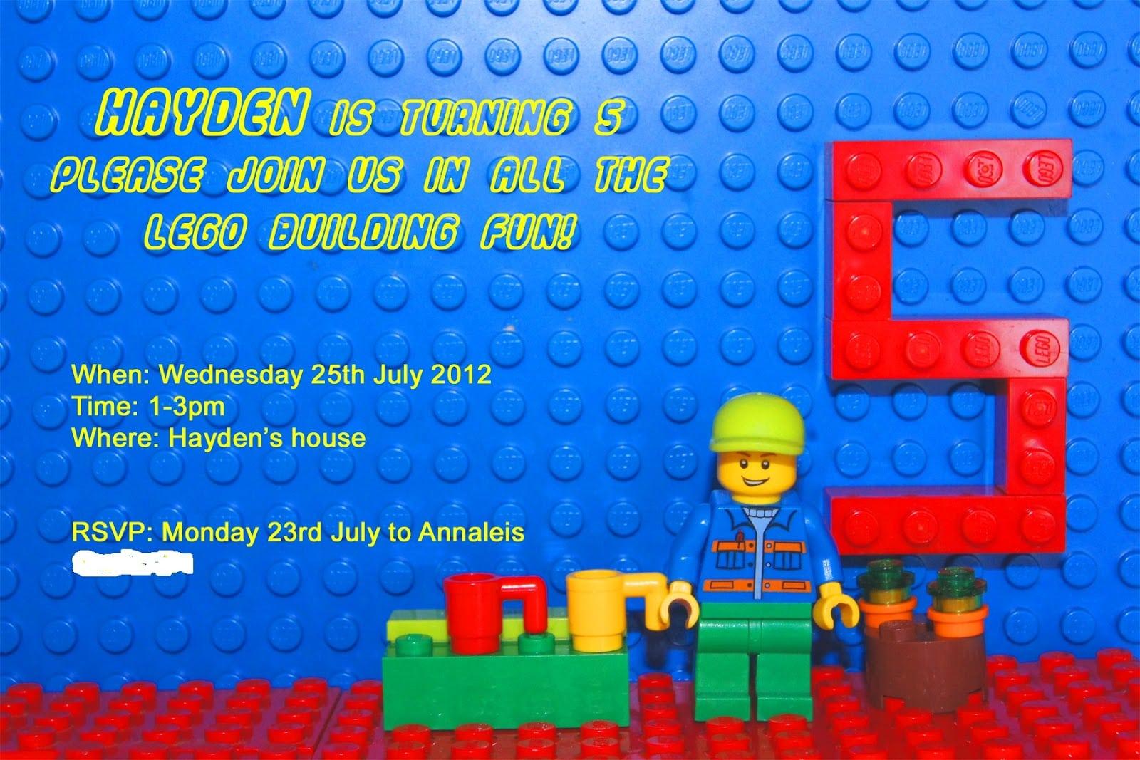 3 Impressive Free Printable Lego Birthday Invitations