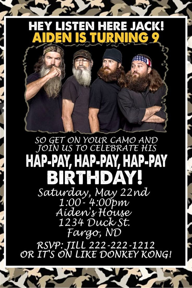 41 Best Duck Dynasty Party Supplies Images On Mickey Mouse Invitations Templates