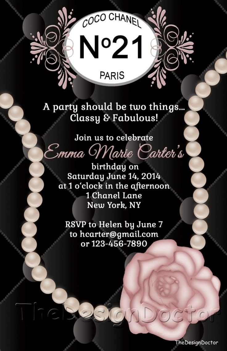 497 Best Chanel Inspired Party Ideas Images On Mickey Mouse Invitations Templates
