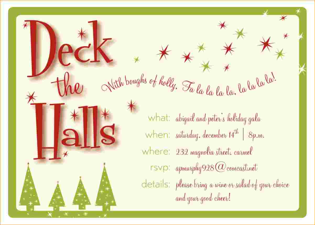 4+ Christmas Party Invitation Template
