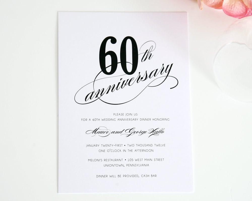 60th Anniversary Invitations