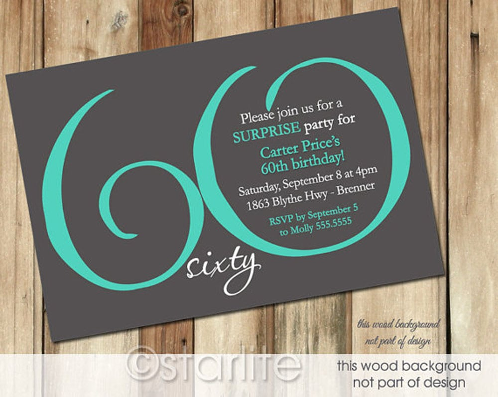 60th Birthday Party Invitations 60th Birthday Party Invitations In
