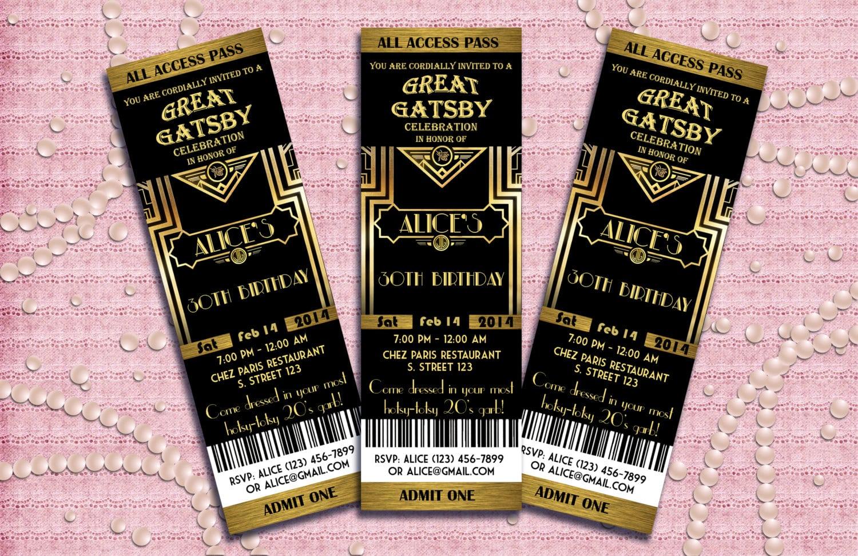 8 Brilliant The Great Gatsby Party Invitation