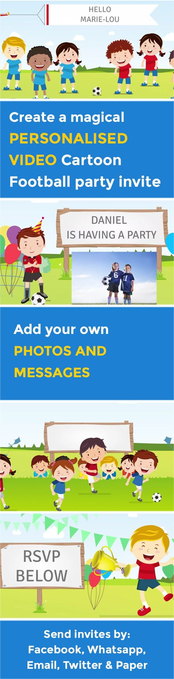 91 Best Personalised Party Video Invitations Images On Mickey Mouse Invitations Templates