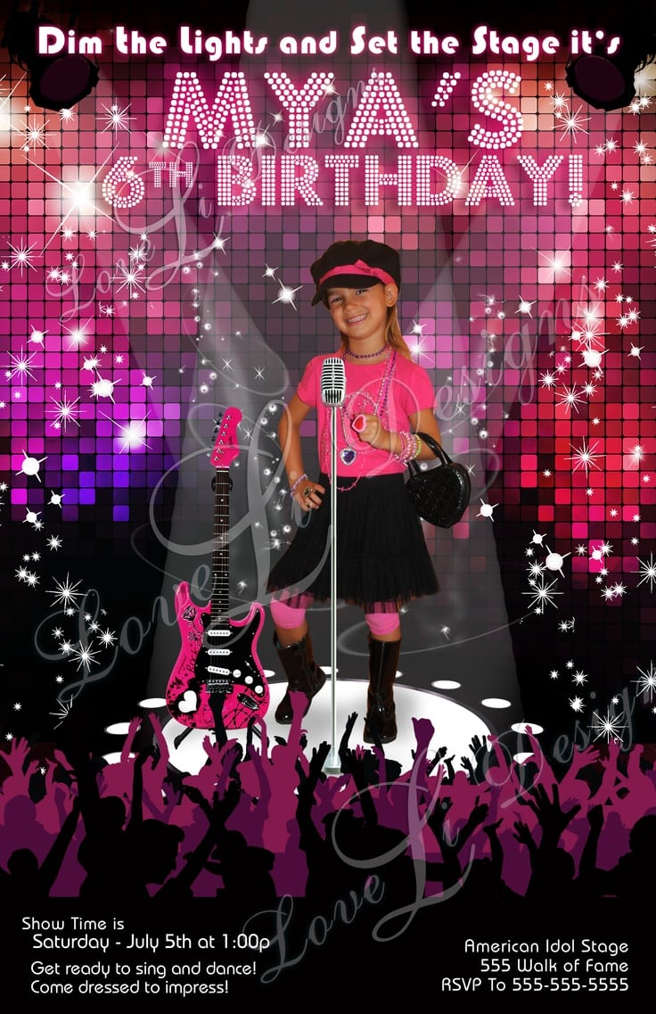 97 Best Popstar Birthday Images On Mickey Mouse Invitations Templates
