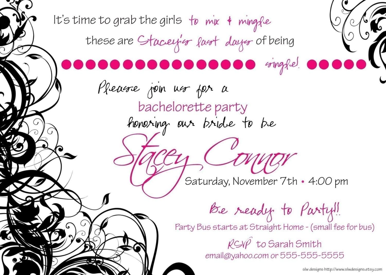 Adult Birthday Party Invitation Wording