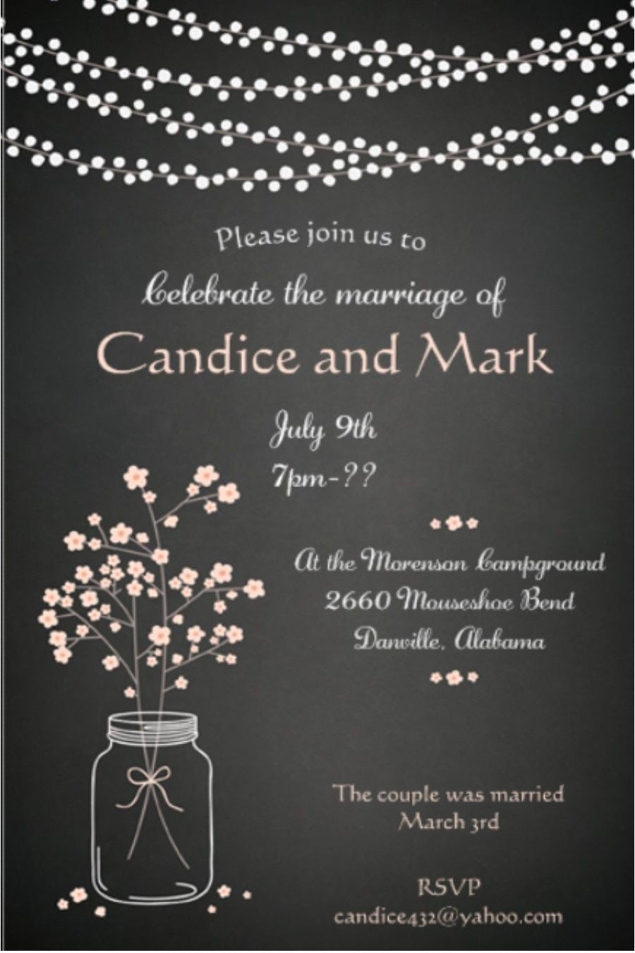 After The Wedding Party Invitations Or Elopement Party Invitations