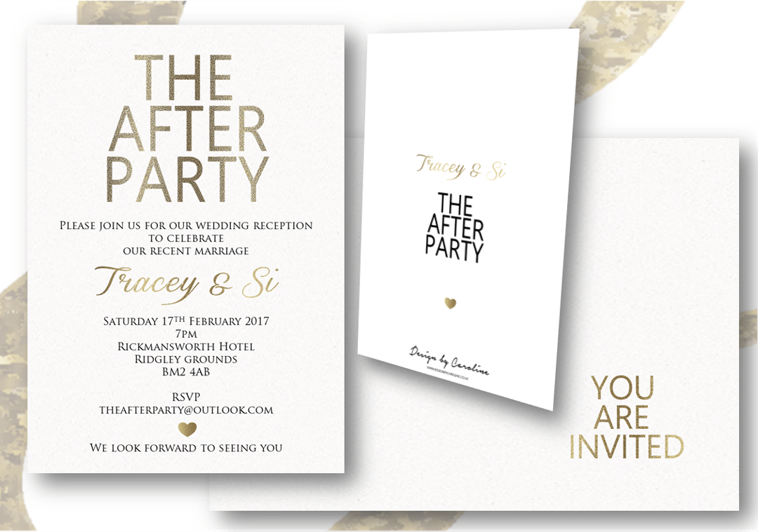 After Wedding Party Invitation Choice Image