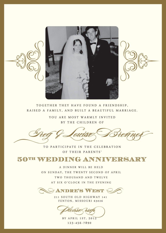 Anniversary Party Invitations Wording