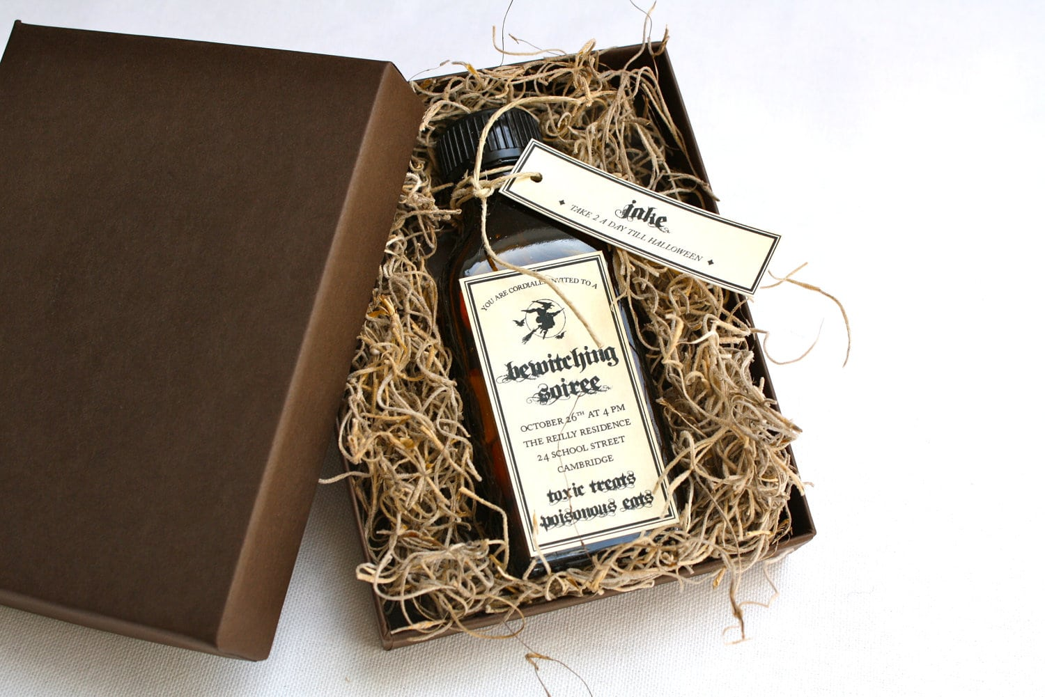 Amber Apothecary Halloween Party Invitation