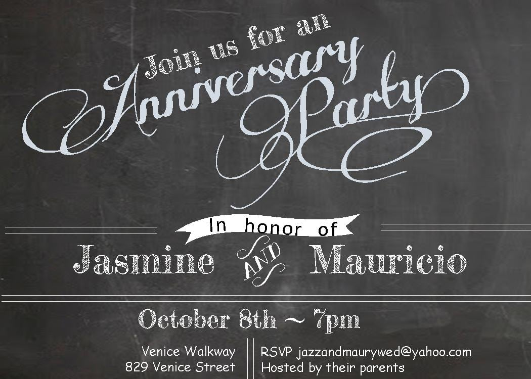Anniversary Party Invitations Anniversary Party Invitations With