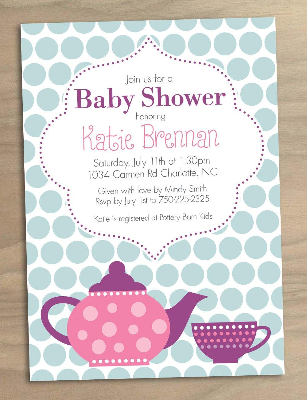 Baby Shower Invitation Or Bridal Shower Invitation