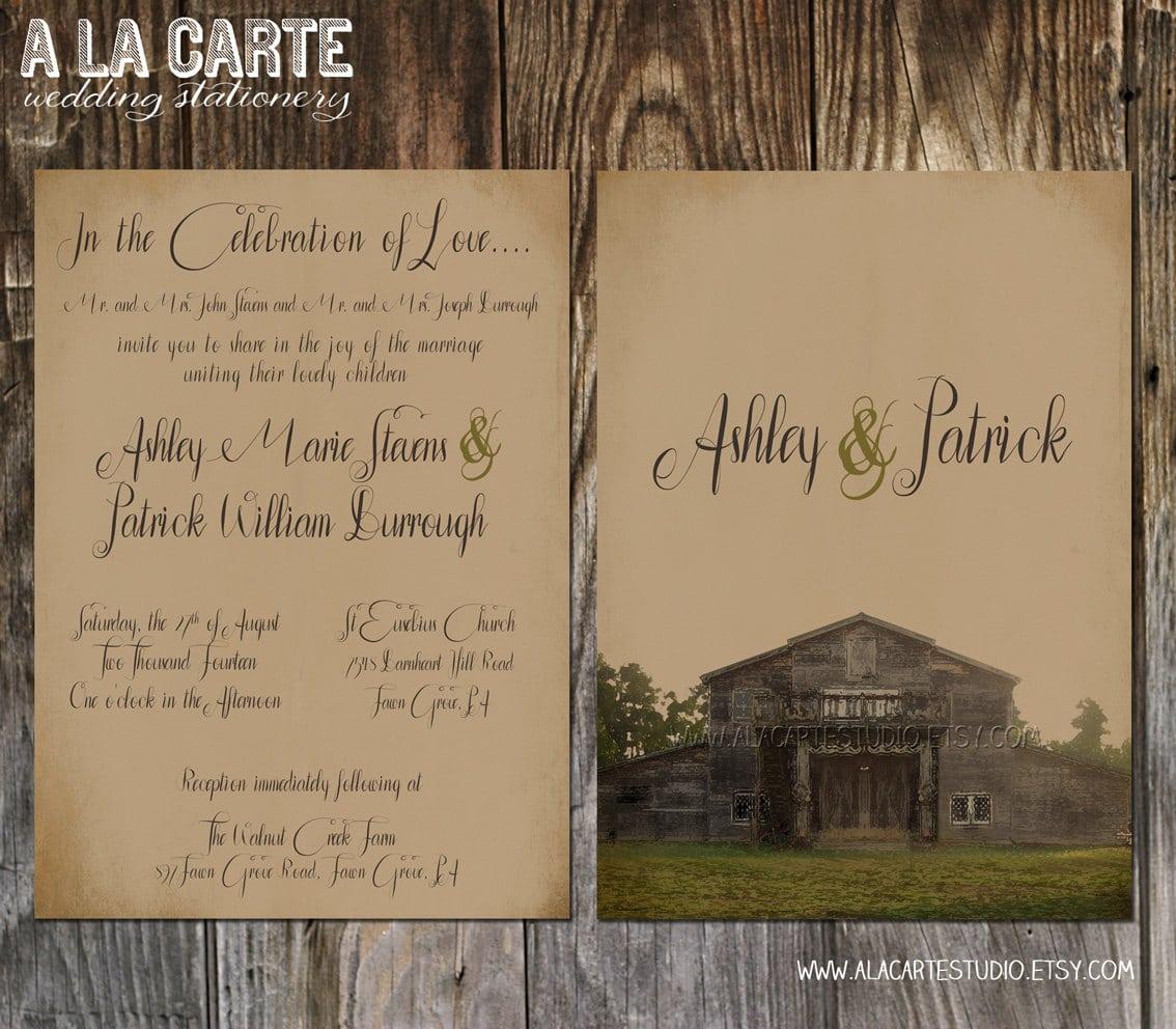 Barn Wedding Invitations