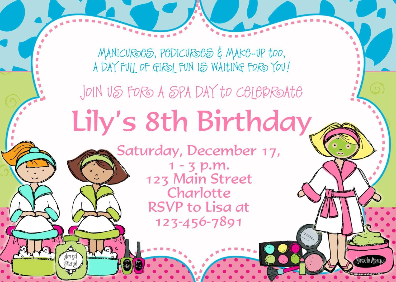 B Day Party Invitation