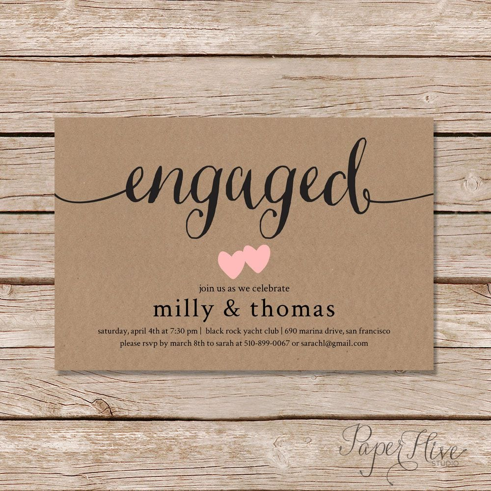 Best Engagement Party Invitations   Engagement Party Invitations