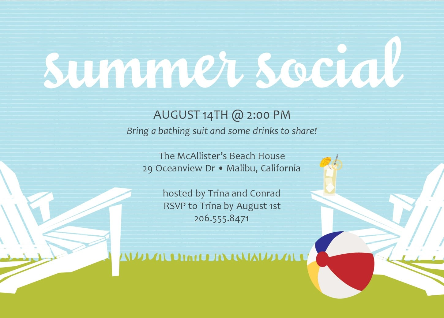 Best Free Summer For Your Party Invitations