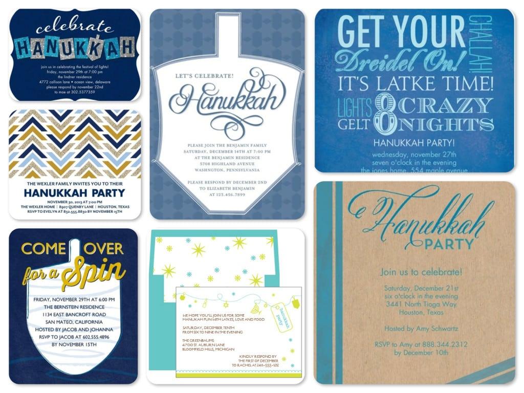 Best Hanukkah Party Invitations