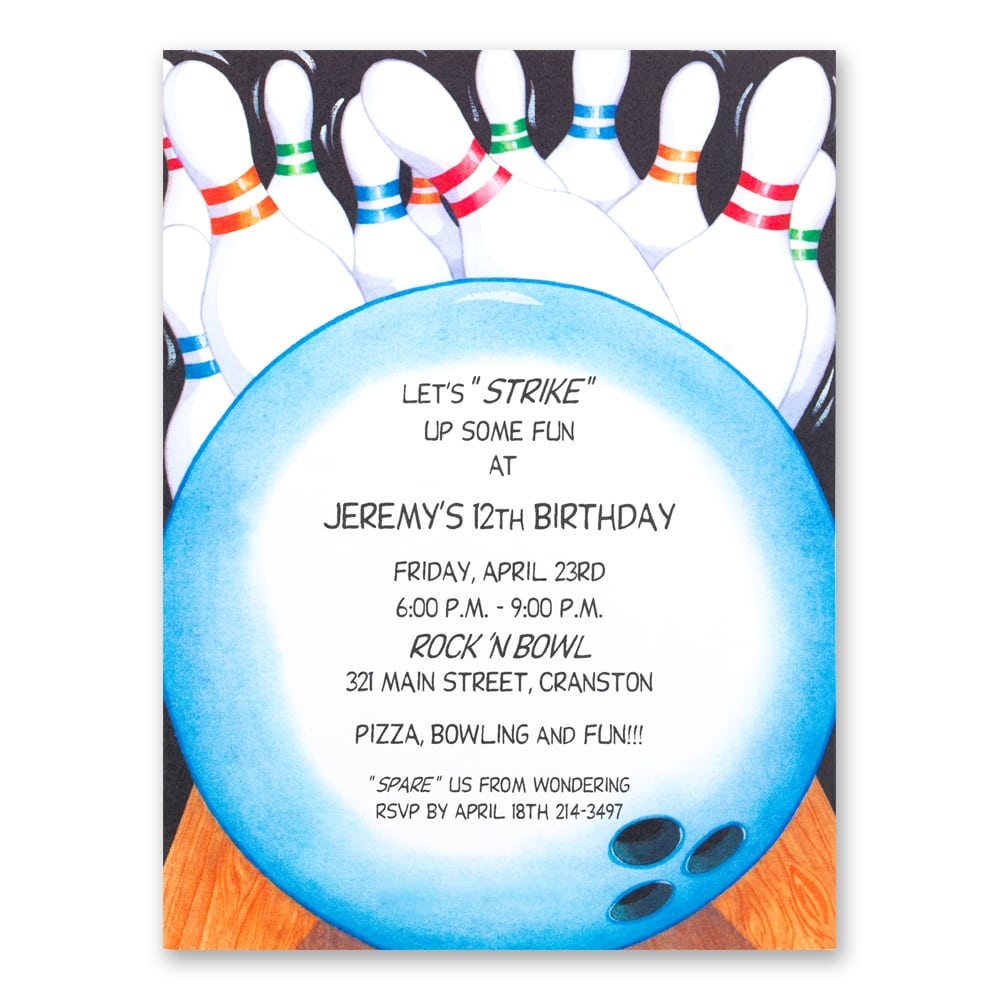Free Printable Bowling Party Invitation Templates
