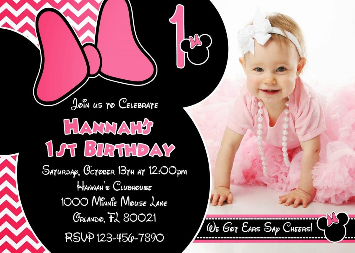 Birthday Invites  Outstanding Minnie Mouse Birthday Invitations