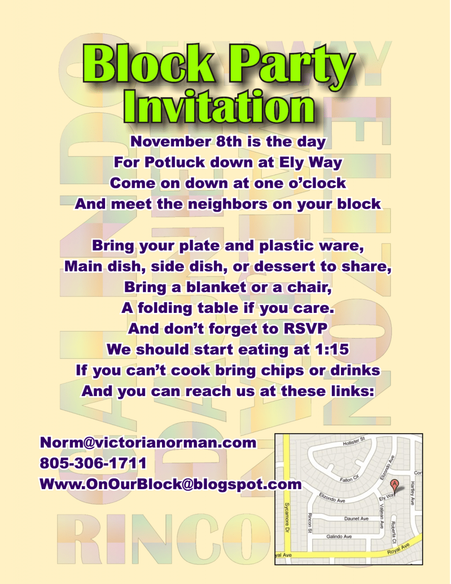 Block Party Invitations