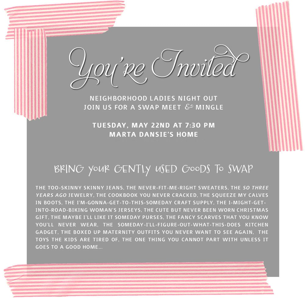 Swap Party Invitation Wording - Mickey Mouse Invitations Templates