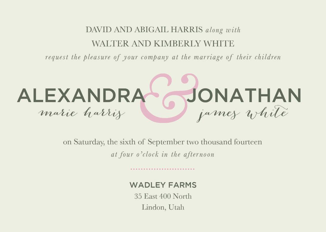 Breathtaking Wedding Reception Invitation Wording