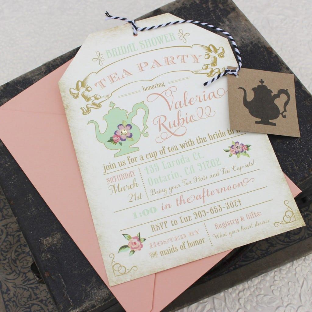 Bridal Shower Tea Party Invitations