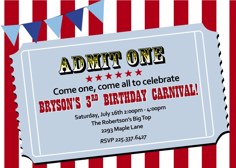 Carnival Party Invites