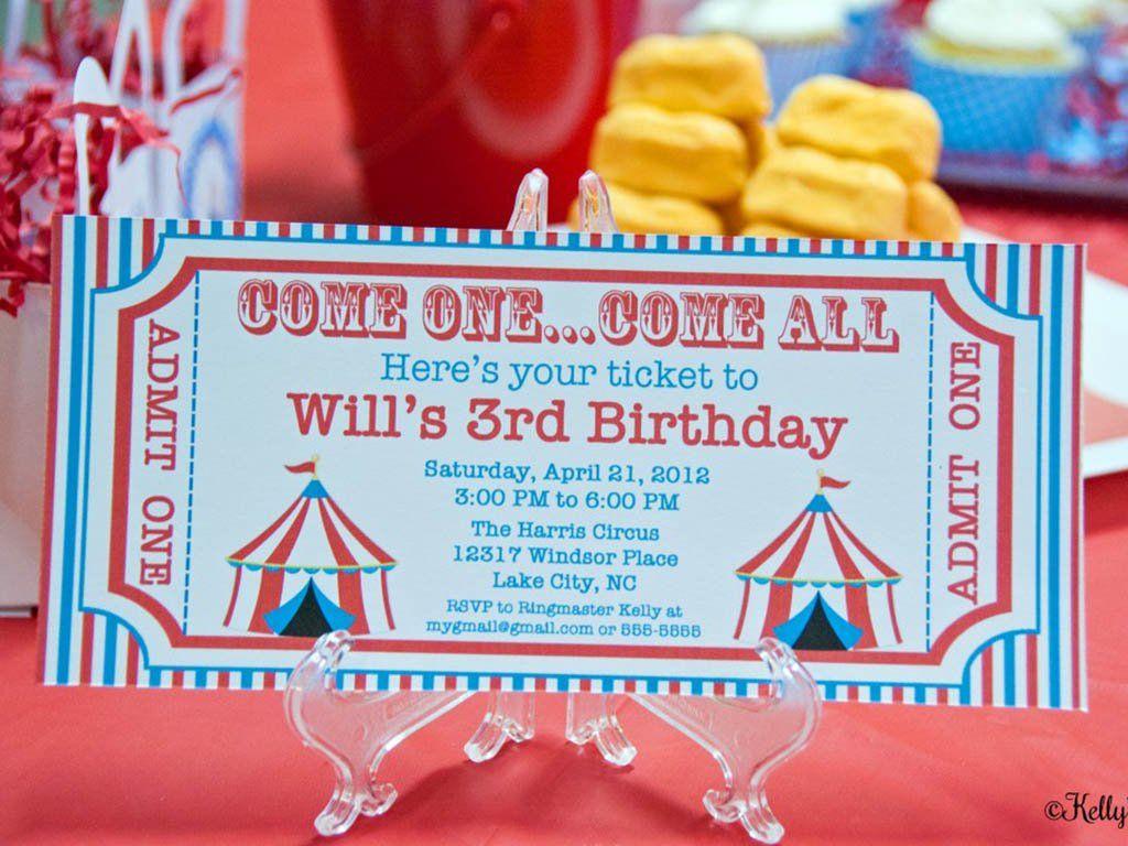 Carnival Theme Party Invitation
