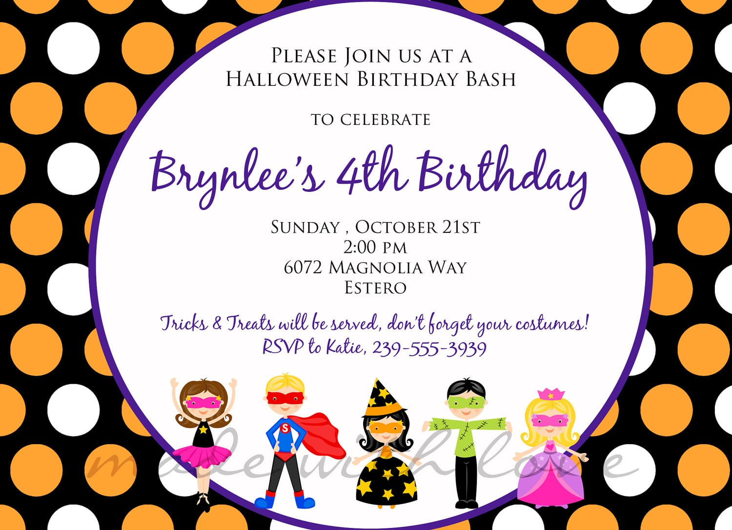 Childrens Halloween Party Invitation Wording Unusual