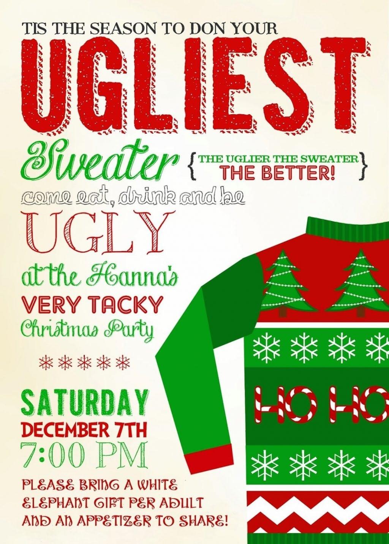 Christmas ~ Ugly Sweater Christmas Party Invitations Kawaiitheo