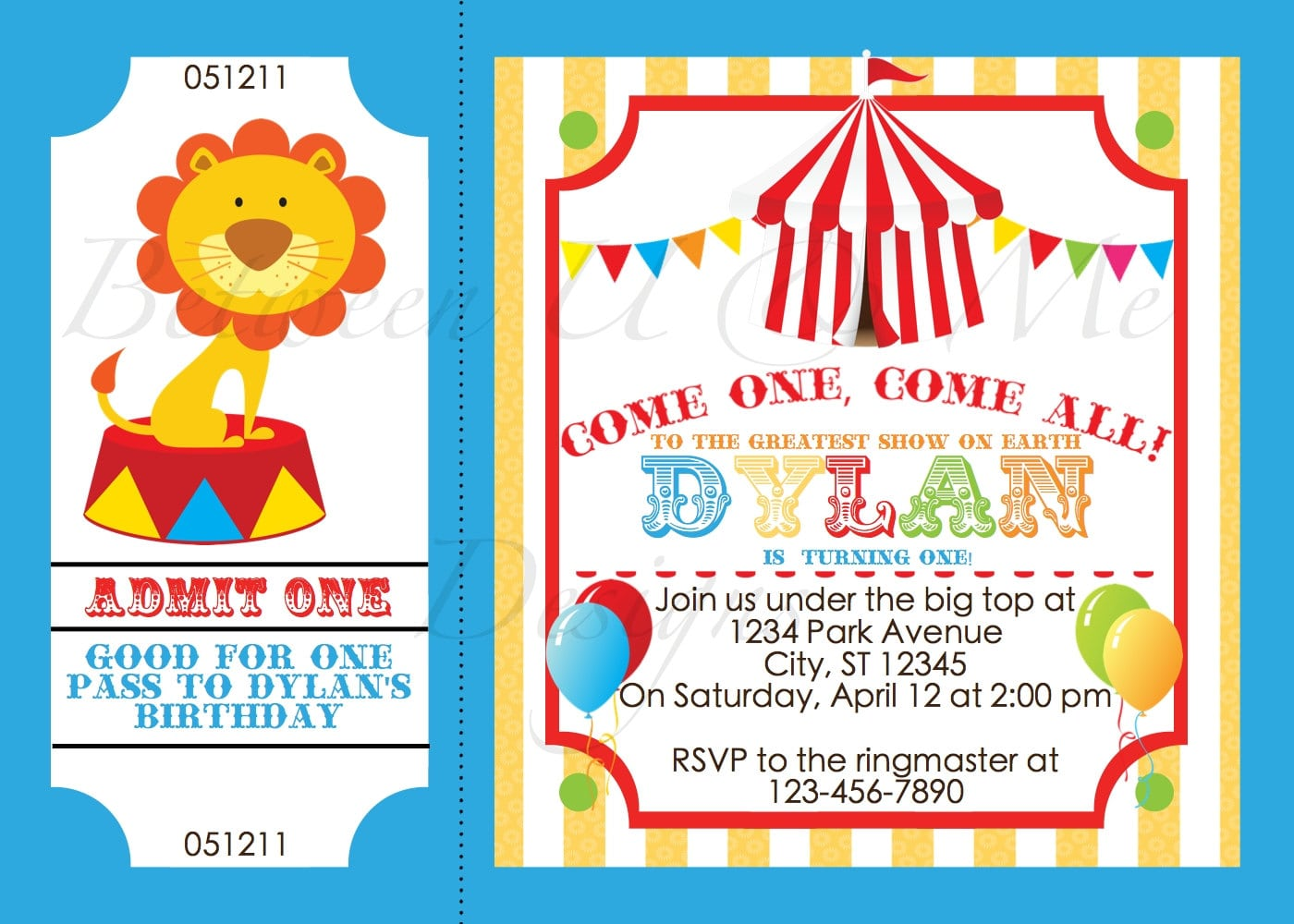 Circus Party Invitations Circus Party Invitations And The