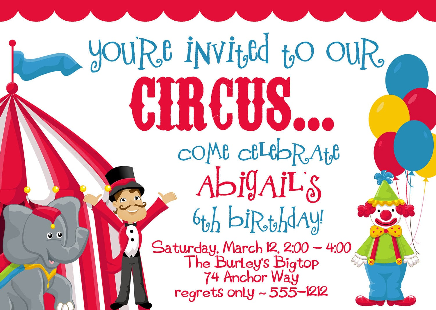 Circus Party Invitations Circus Party Invitations For Your