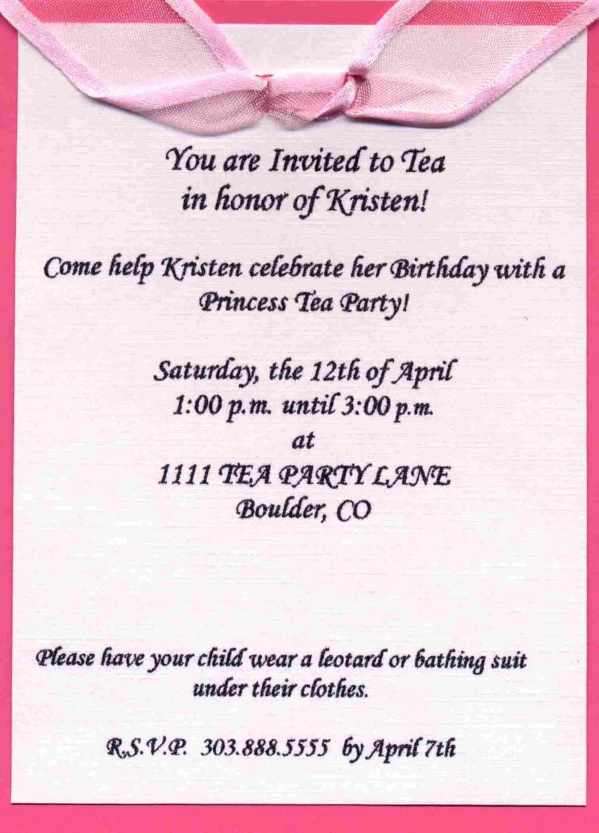 Colors   How To Write A Birthday Invitation Sms In Conjunction