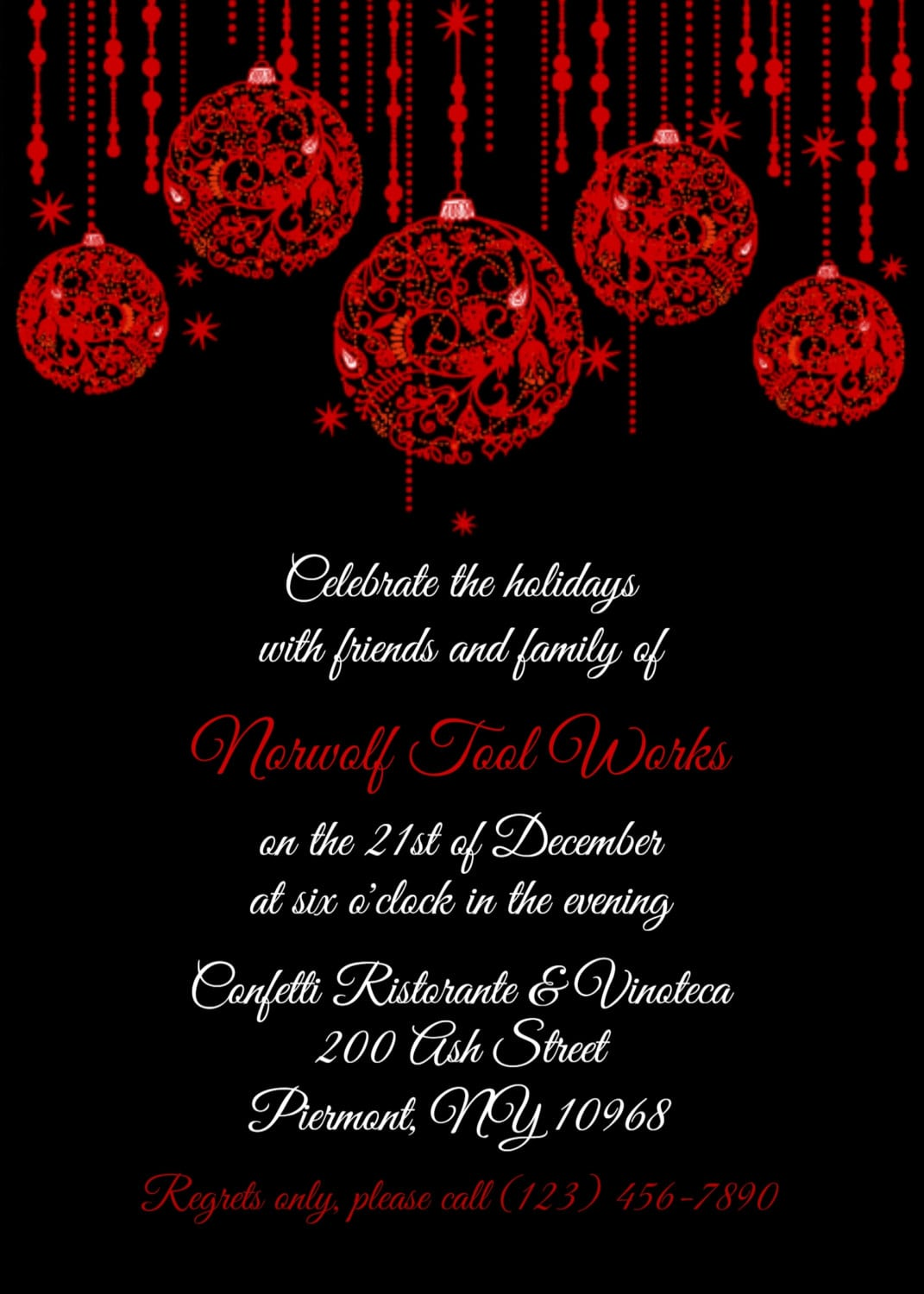 Corporate Christmas Party Invitation Templates