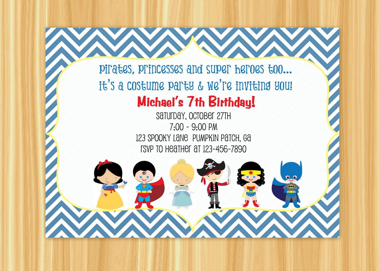 Costume Party Invite