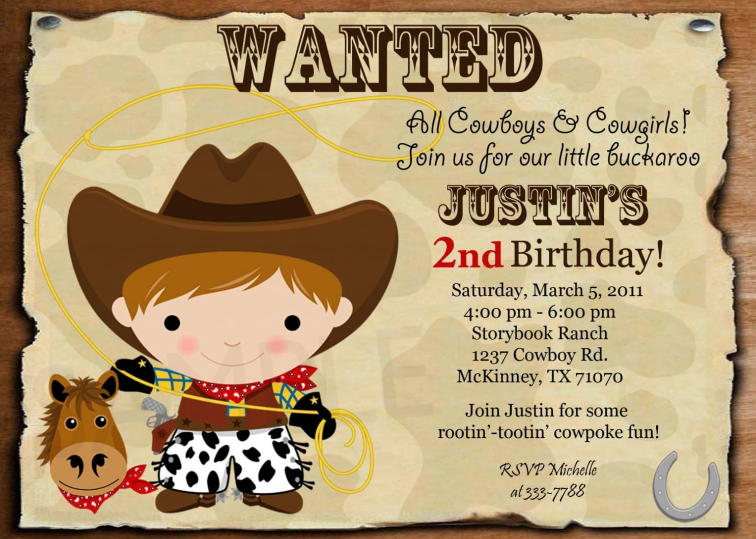 Cowboy Party Invitations Cowboy Party Invitations For Simple