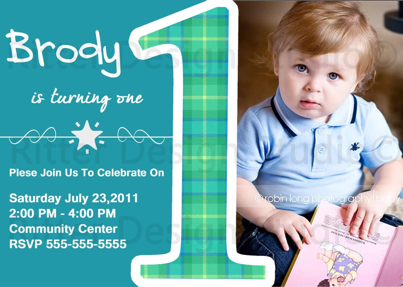1st Birthday Party Invitations Boy