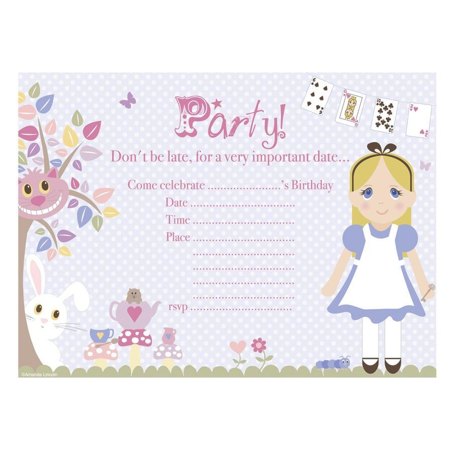 Digital Printable, Alice In Wonderland Generic Party Invitation