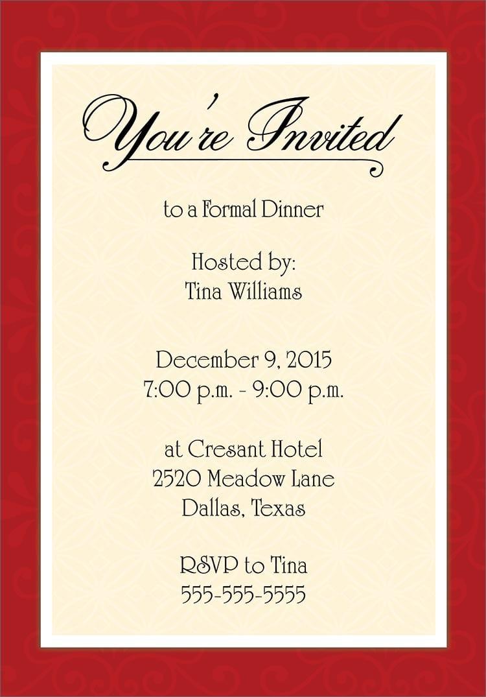 Dinner Invitations Templates