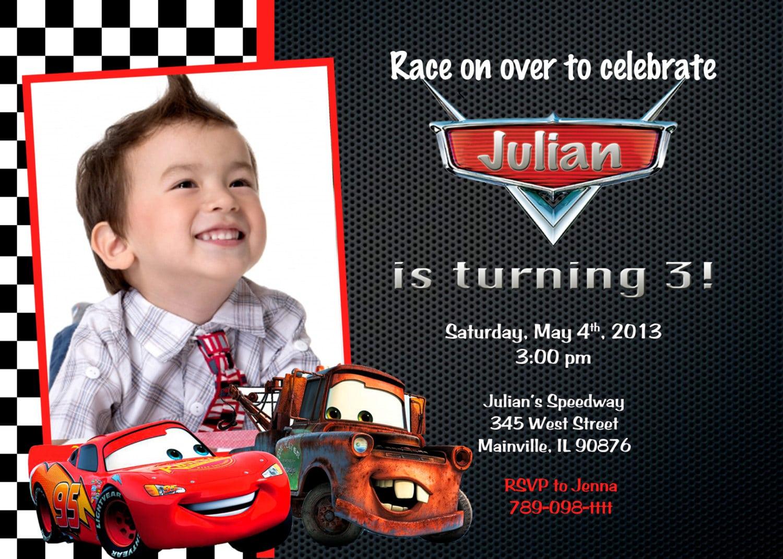 Cars Birthday Party Invitation