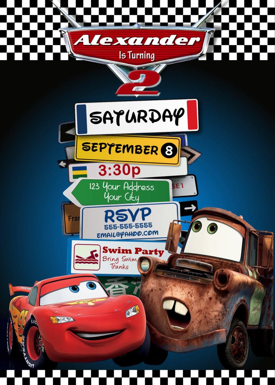 Disney Pixar Cars Lightning Mcqueen Mater Birthday Party