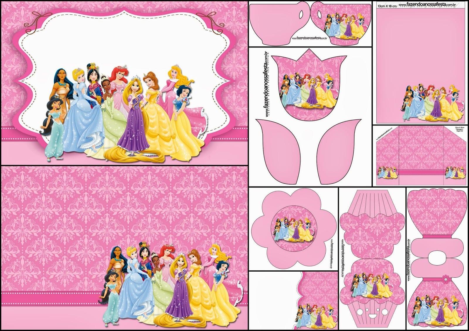 Disney Princess Party  Free Printable Party Invitations