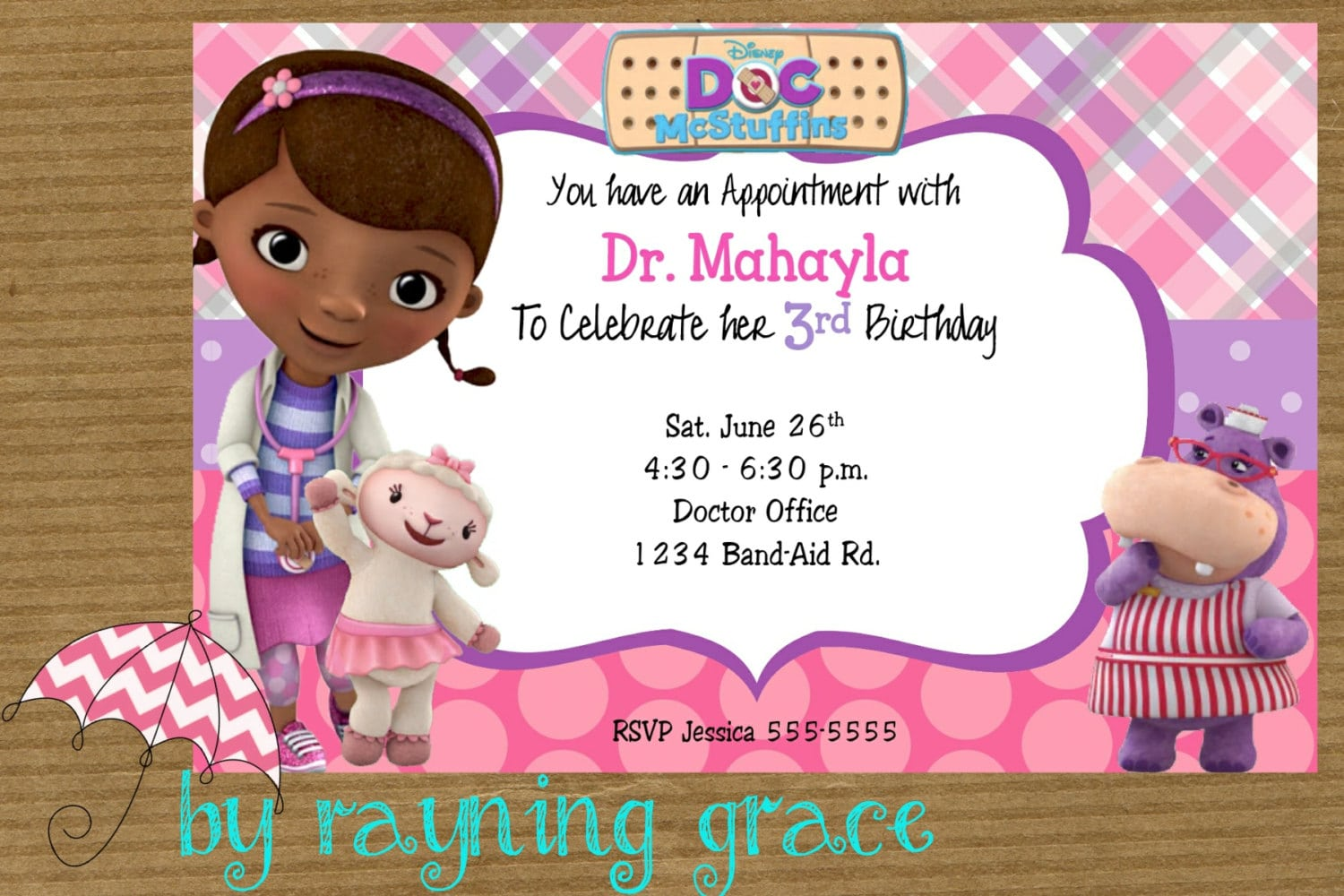Doc Mcstuffins Party Invitations Doc Mcstuffins Party Invitations