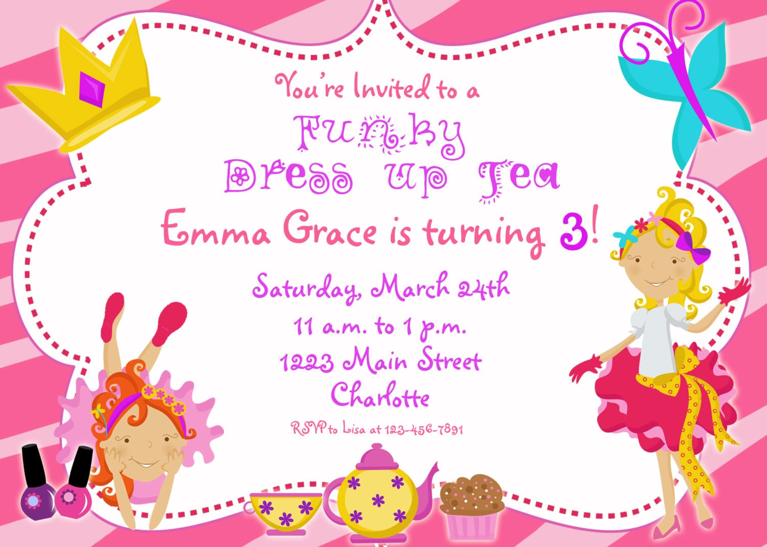 Doll Party Invitations Images