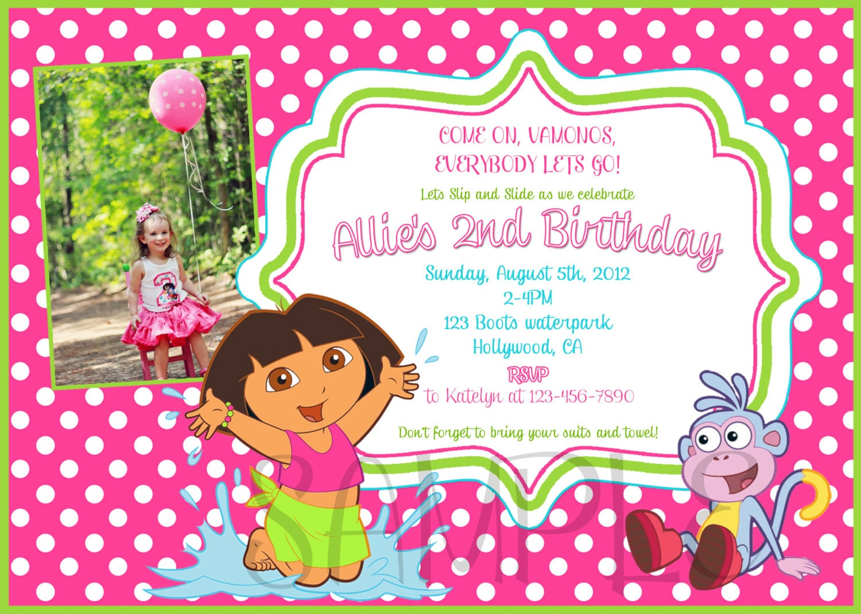 Dora Party Invites Gallery